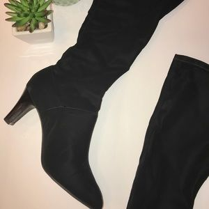 Alex Marie Black Tall ultra suede boots